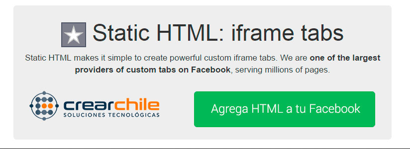 Insertar Iframe HTML Streaming Audio o Video en Facebook